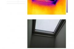 Střešní okno netěsní. Bez termokamery nelze zjistit.